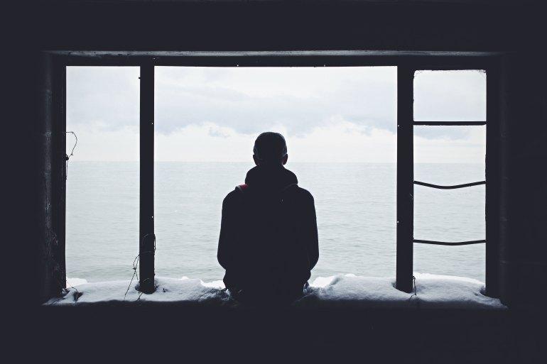 people-guy-dark-window-wallpaper